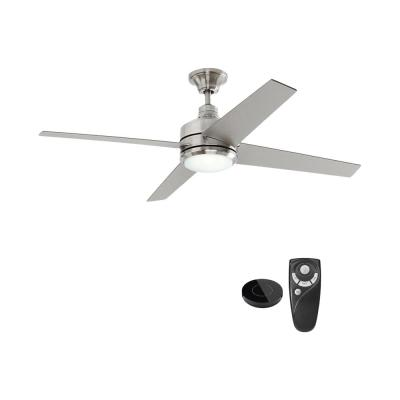 Mercer 52 in. Integrated LED Indoor Brushed Nickel Ceiling Fan with Light Kit works with Google Assistant and Alexa