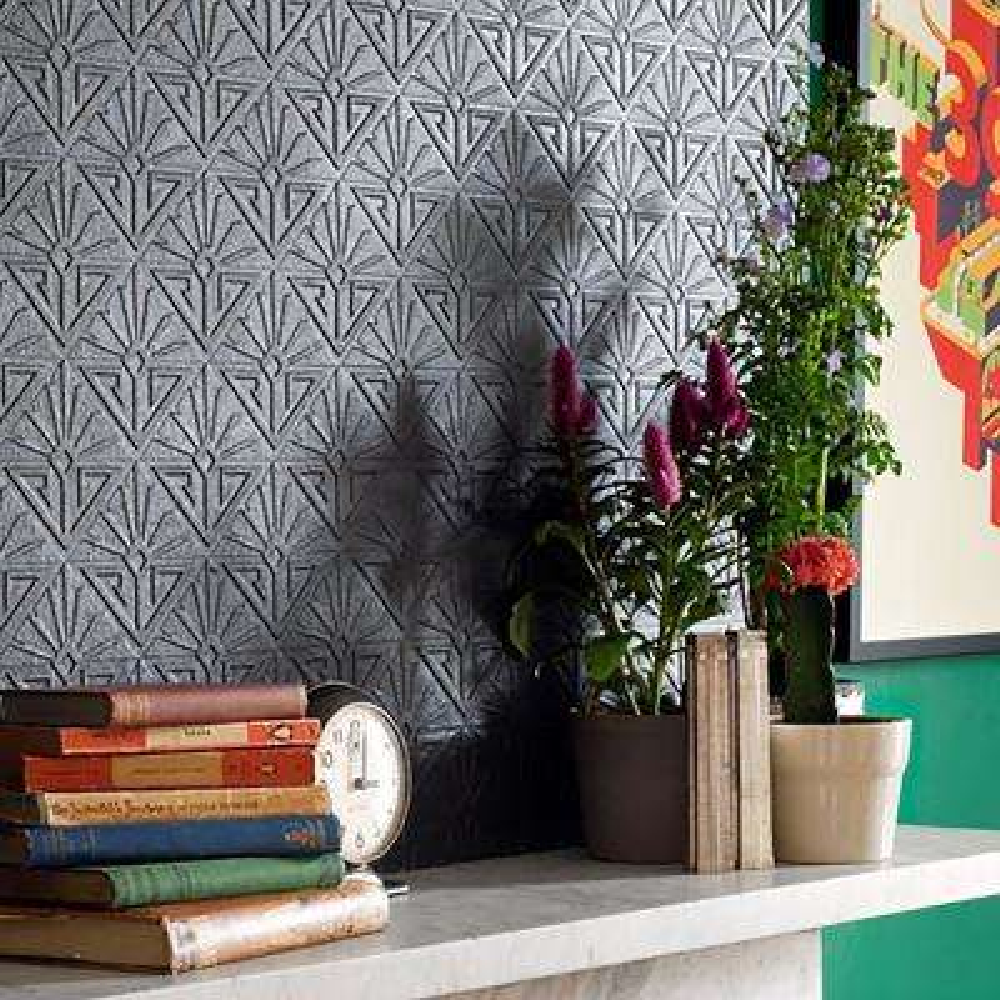 Deco Paradiso Paintable Luxury Vinyl Wallpaper Sample