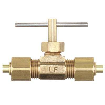 1/4 in. OD Compression Brass Valve Fitting