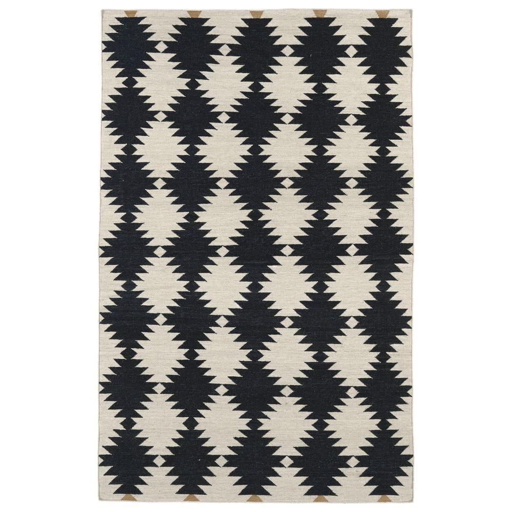 Kaleen Nomad Black 5 ft. x 8 ft. Area Rug