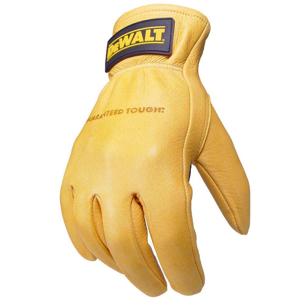 DEWALT Premium Grain Goatskin Driver Glove with Palm Overlay - Medium-DISCONTINUED