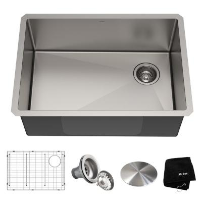 Standart PRO Undermount Stainless Steel 27 in. Single Bowl Kitchen Sink