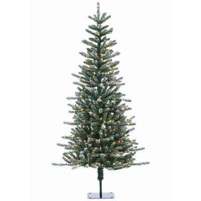 6 ft. Pre-Lit Bridgeport Pine Artificial Christmas Tree with Clear Lights