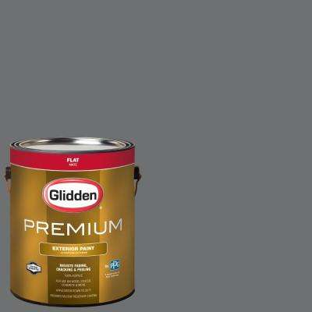 1 gal. #NHL-012L Edmonton Oilers Dark Gray Flat Exterior Paint
