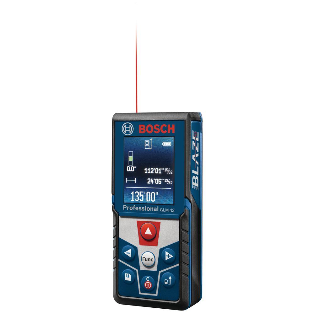 Bosch Blaze 135 Ft Laser Measurer With Full Color Display