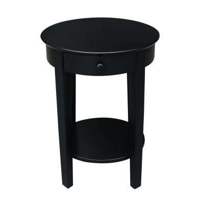 Phillips Black Solid Wood Accent Table