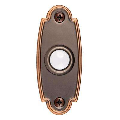Wired Door Bell Push Button in Mediterranean Bronze