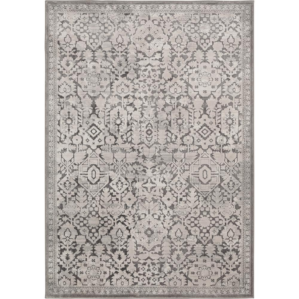 Home Decorators Collection Skyline Gray 5 Ft X 7 Ft Floral Area Rug 2838yc57hd 200 The Home Depot