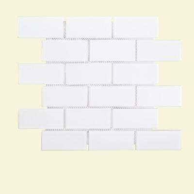 Classic Brick 11-5/8 in. x 11-5/8 in. x 6 mm Porcelain Mosaic Tile