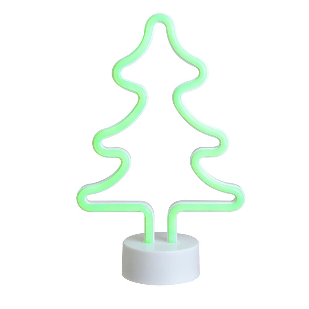 Battery Operated Neon Style Led Green