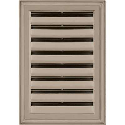 12 in. x 18 in. Rectangle Gable Vent #095 Clay