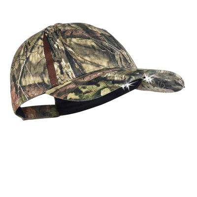 Powercap Camo LED Hat 25/10 Ultra-Bright Hands Free Lighted Battery Powered Headlamp Mossy Oak Country Structured