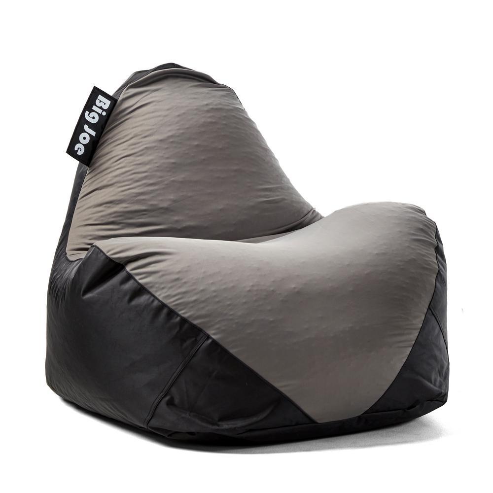 Big Joe Warp Chair Black/Dark Grey Spandex And SmartMax Bean Bag