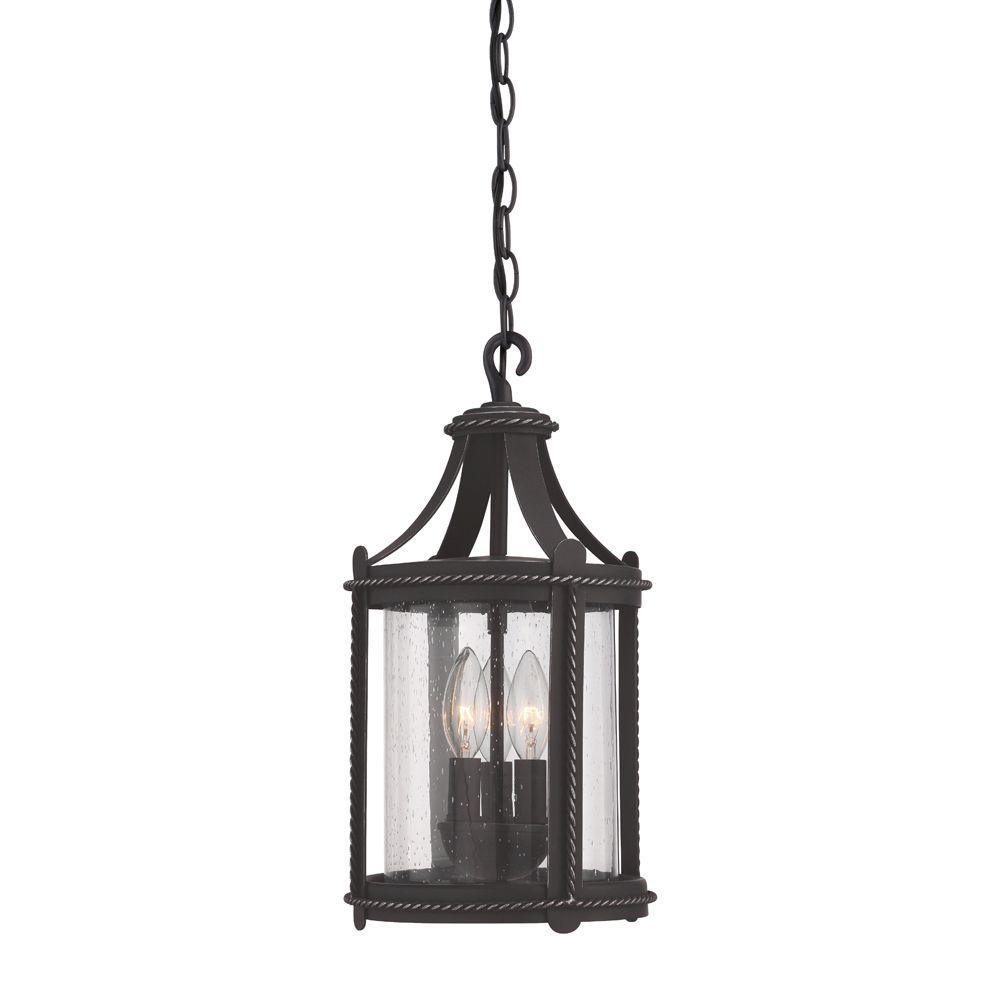 Palencia 3-Light Artisan Pardo Wash Outdoor Incandescent Hanging Lantern