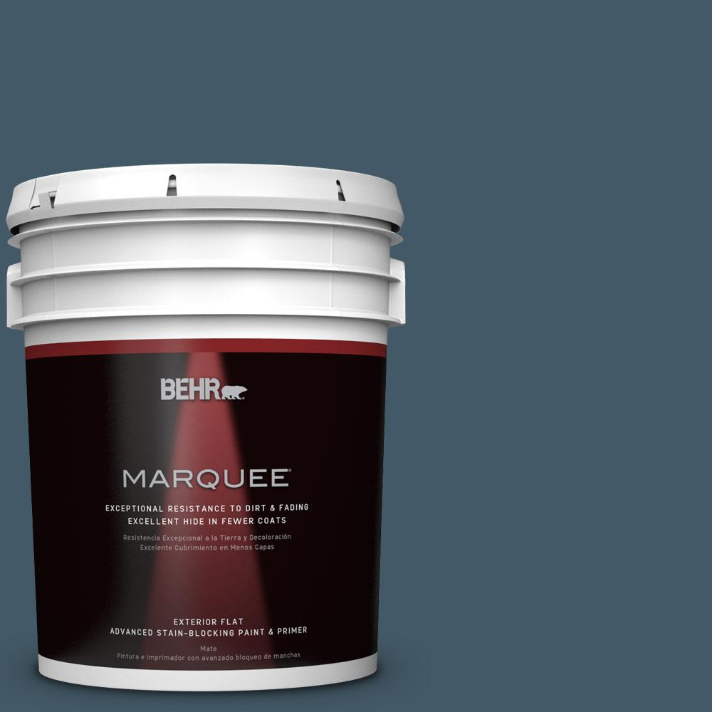 BEHR 5-gal. #S480-7 Midnight in the Tropics Flat Exterior...