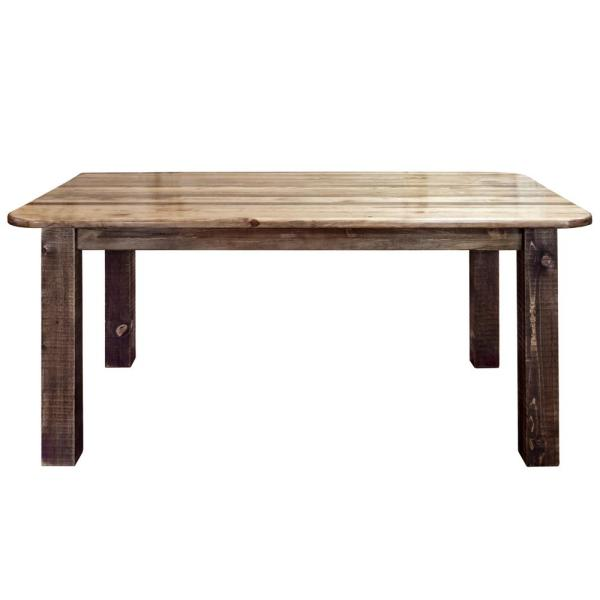Montana Woodworks Homestead Collection Early American 4 Post Dining Table Mwhcdt4psl The Home Depot