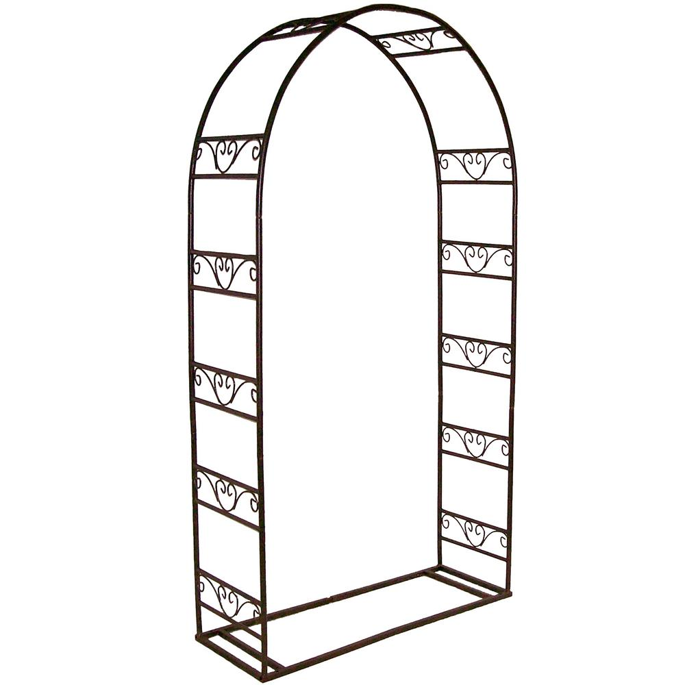 Single 87 in. x 47 in. Arbor with Base