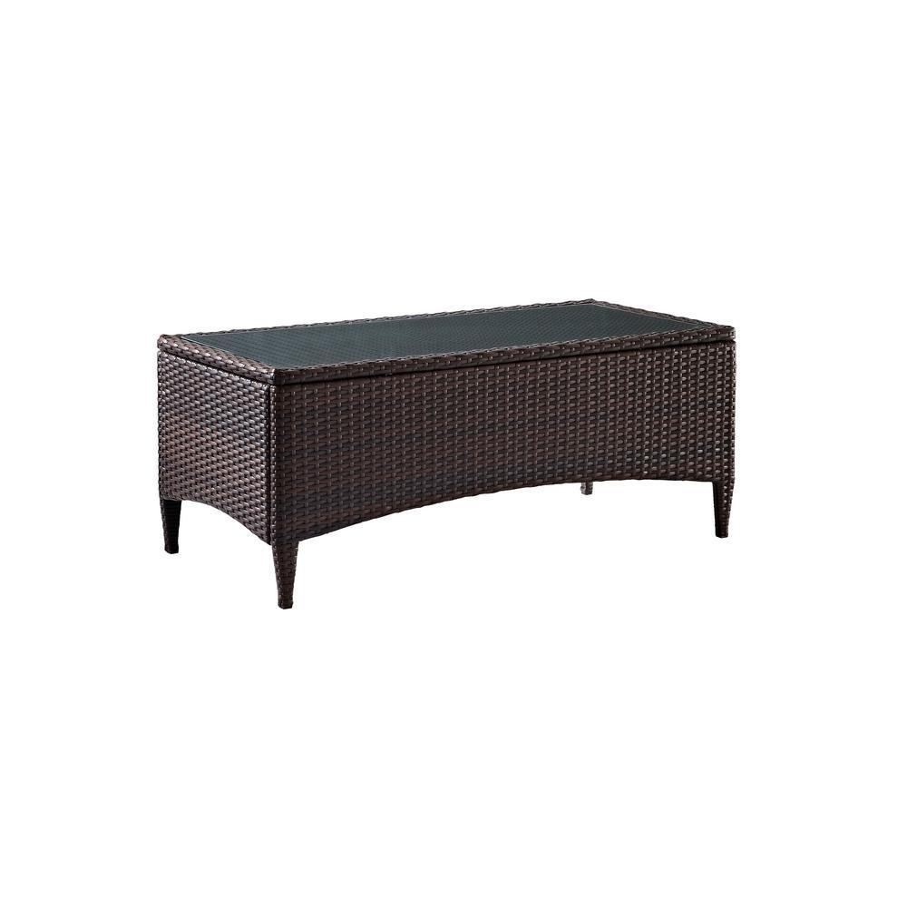 Kiawah Rectangular Wicker Outdoor Patio Coffee Table