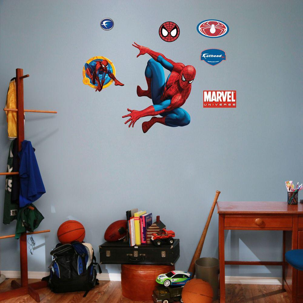Fathead 30 In. X 24 In. Spiderman And Assorted Wall Decals