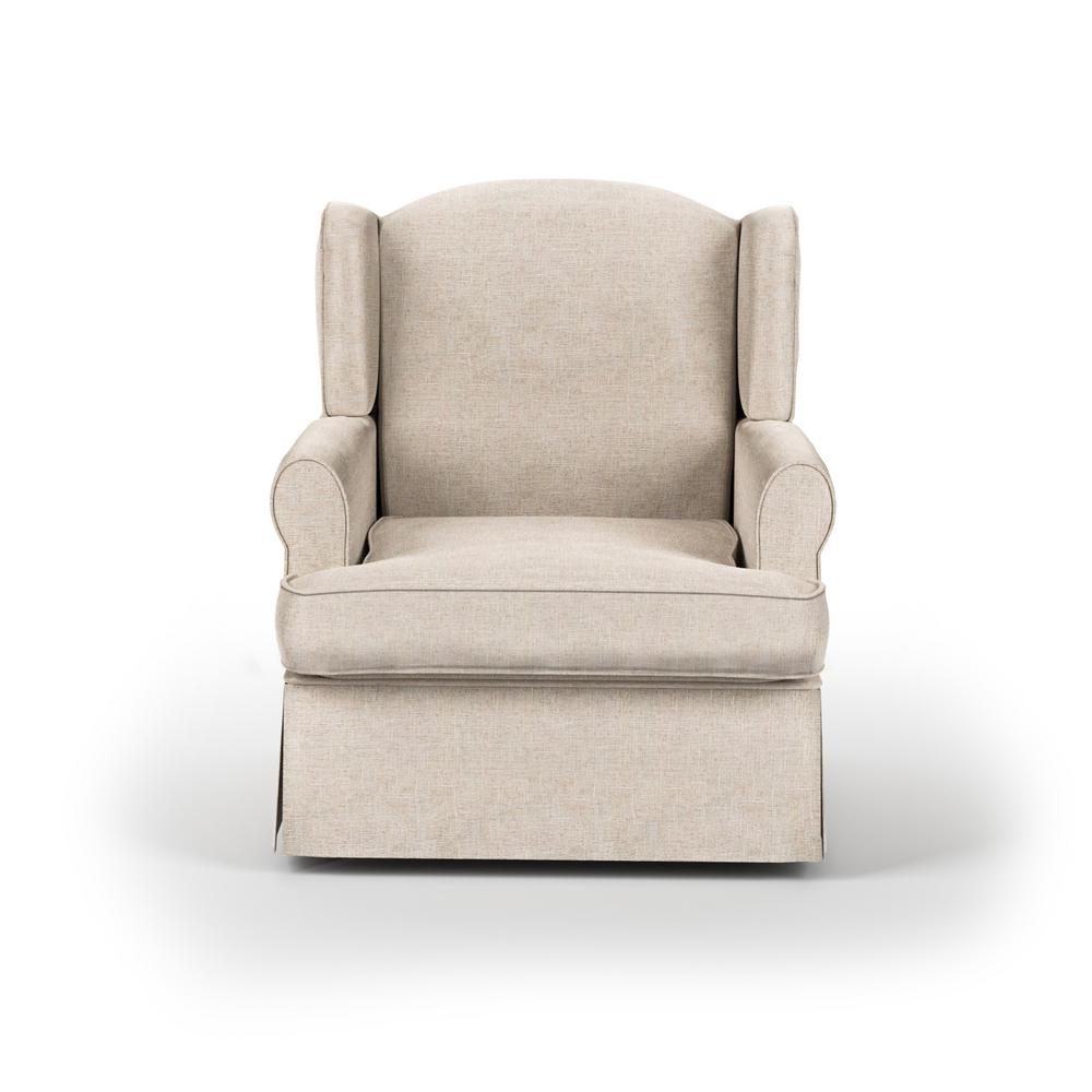 Furniture of America Maya Beige Wingback Glider Rocker What a cozy design of this glider rocker, When you are home after a long day. Sit on the extra padded cushion seat and pillow like seat back. Leaning your head on the wingback and rest your hand on the rolled armrest. It just kills all of your tiredness, forget everything about the day you have been through, and just enjoy and relax the moment that Maya Wingback Glider Rocker provided. Color: Beige.