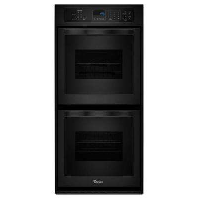 24 in. Double Electric Wall Oven Self-Cleaning in Black