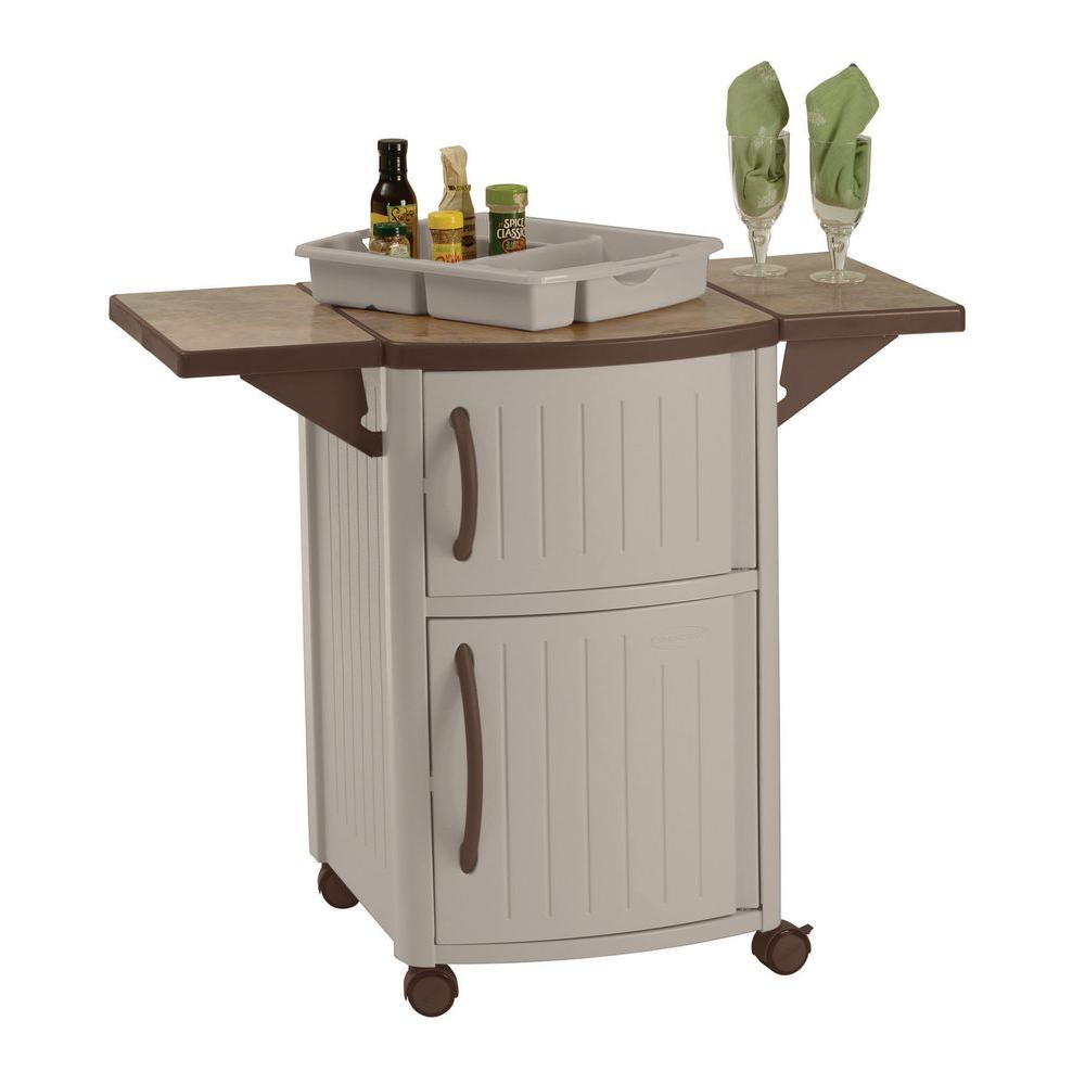 Suncast Serving Station Patio Cabinet Dcp2000 The Home Depot