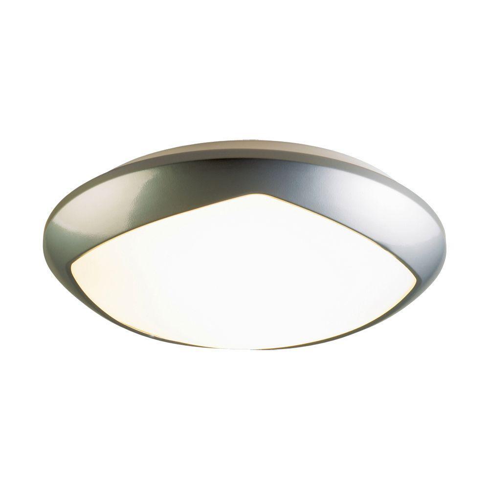 Eurofase Esquadra Collection 1-Light Flush Mount Satin Nickel Light-DISCONTINUED