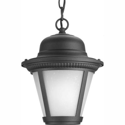 Westport Collection 1-Light Outdoor Black LED Hanging Lantern