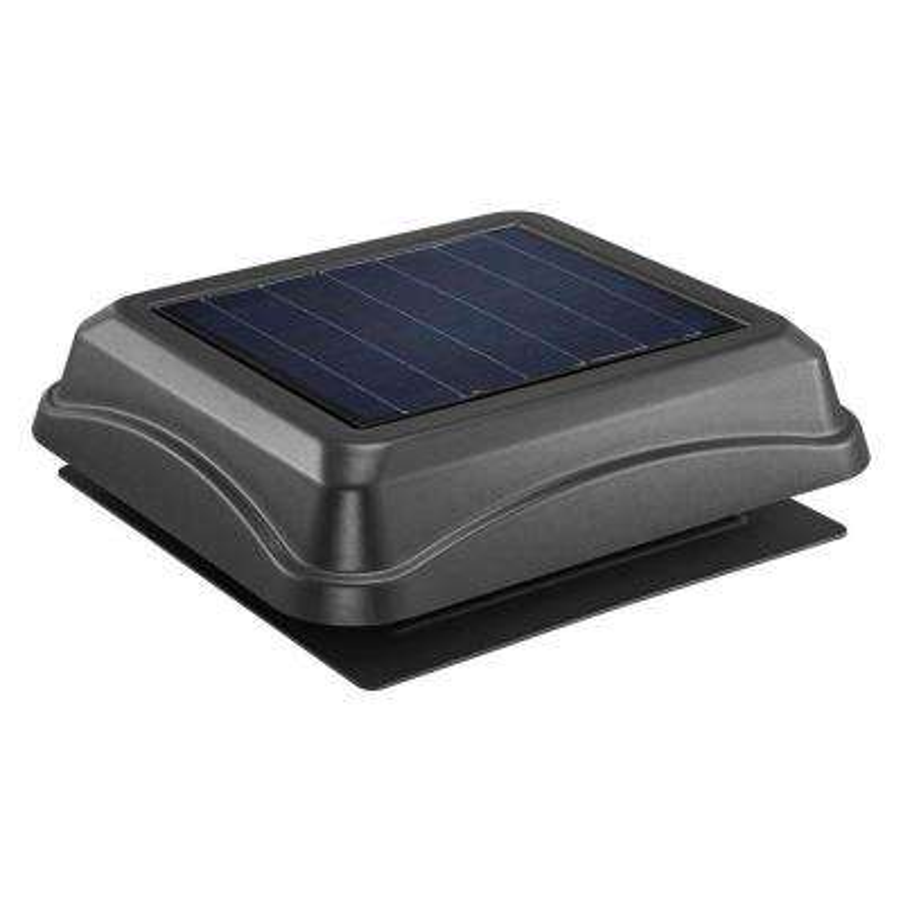 28 Watt Solar-Powered Black Surface Mount Attic Vent