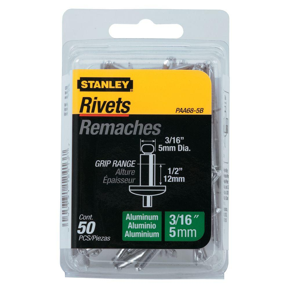 Stanley 3/16 in. Aluminum Rivets 50-Pack