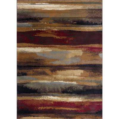 Festival Multi-Color 6 ft. 7 in. x 9 ft. 6 in. Area Rug