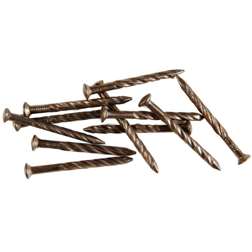Pewter 1-1/4 in. Floor Metal Screw Nails