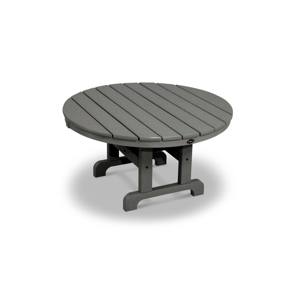 Trex Outdoor Furniture Cape Cod Stepping Stone In Round Patio - Stone picnic table