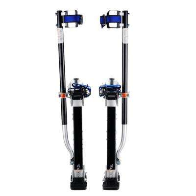 24 in. to 40 in. Silver Height Drywall Stilts in Black