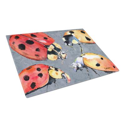 Lady Bug Multiple Tempered Glass Large Cutting Board