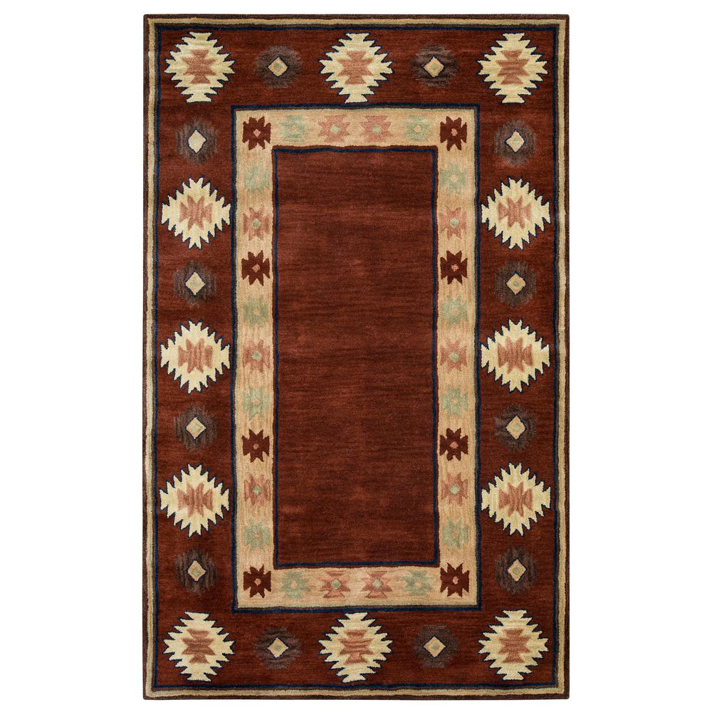 Rizzy Home Southwest Burgundy 3 Ft X 5 Area Rug