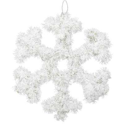 13 in. x 13 in. Snowflake Tinsel Decoration (6-Pack)