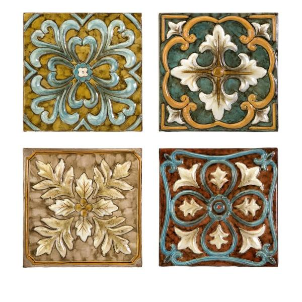 IMAX Worldwide Home Casa Medallion Tiles (Set of 4)
