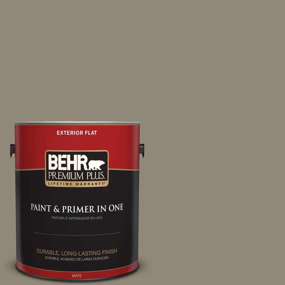 BEHR Premium Plus 1-gal. #780D-6 Witch Hazel Flat Exterior Paint