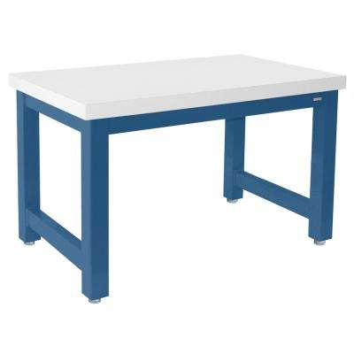 Extreme Heavy-Duty 2.5 ft. D x 5 ft. W Standard Formica Laminate Top 20,000 lbs. Capacity Workbench