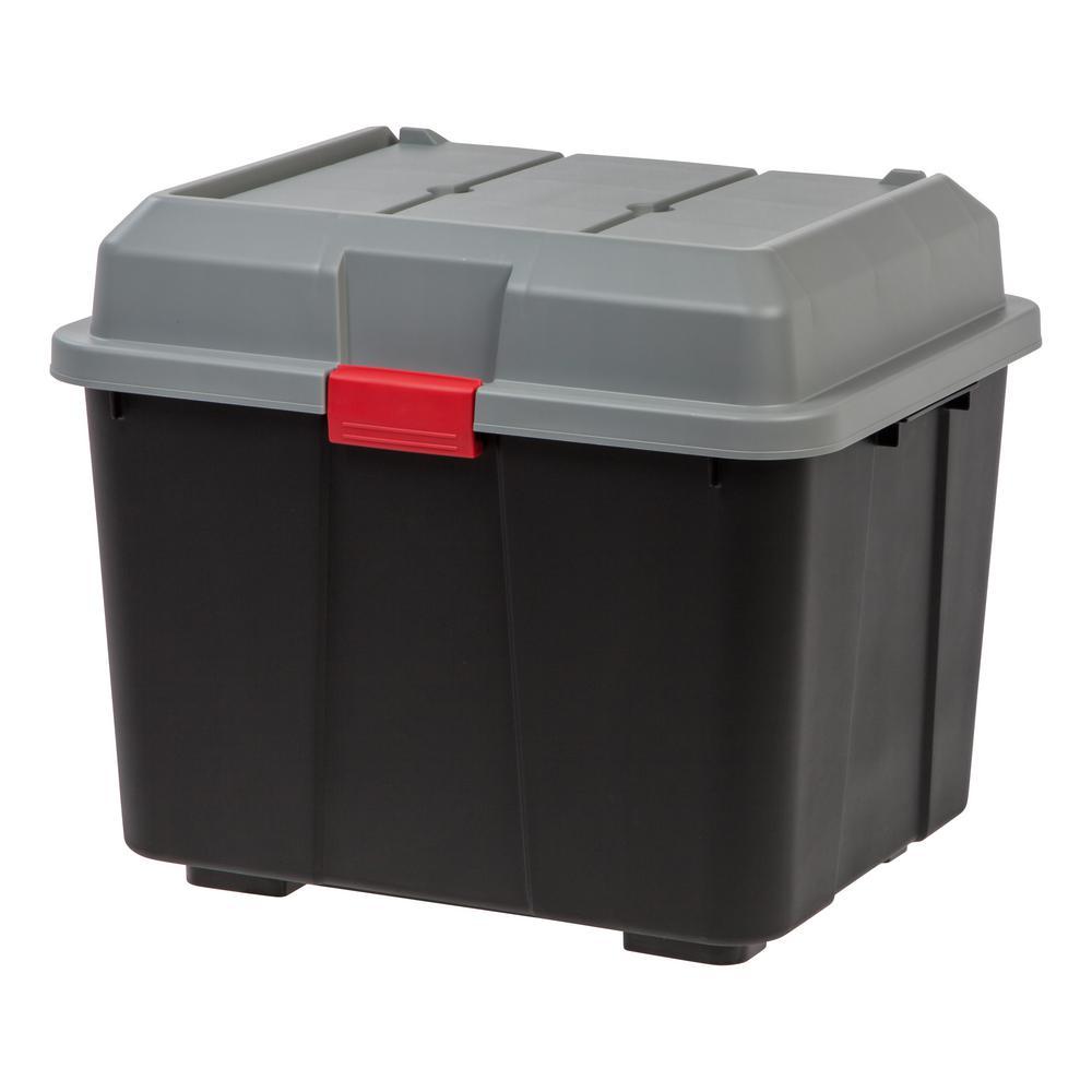 Hinged Black Lid Storage Trunk (4 per Pack)