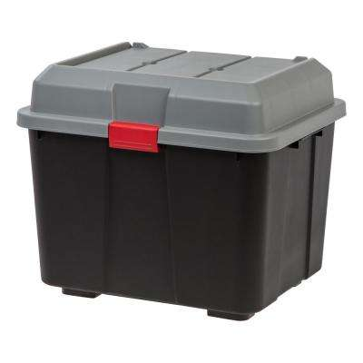 Hinged Black Lid Storage Trunk (4 per Pack)