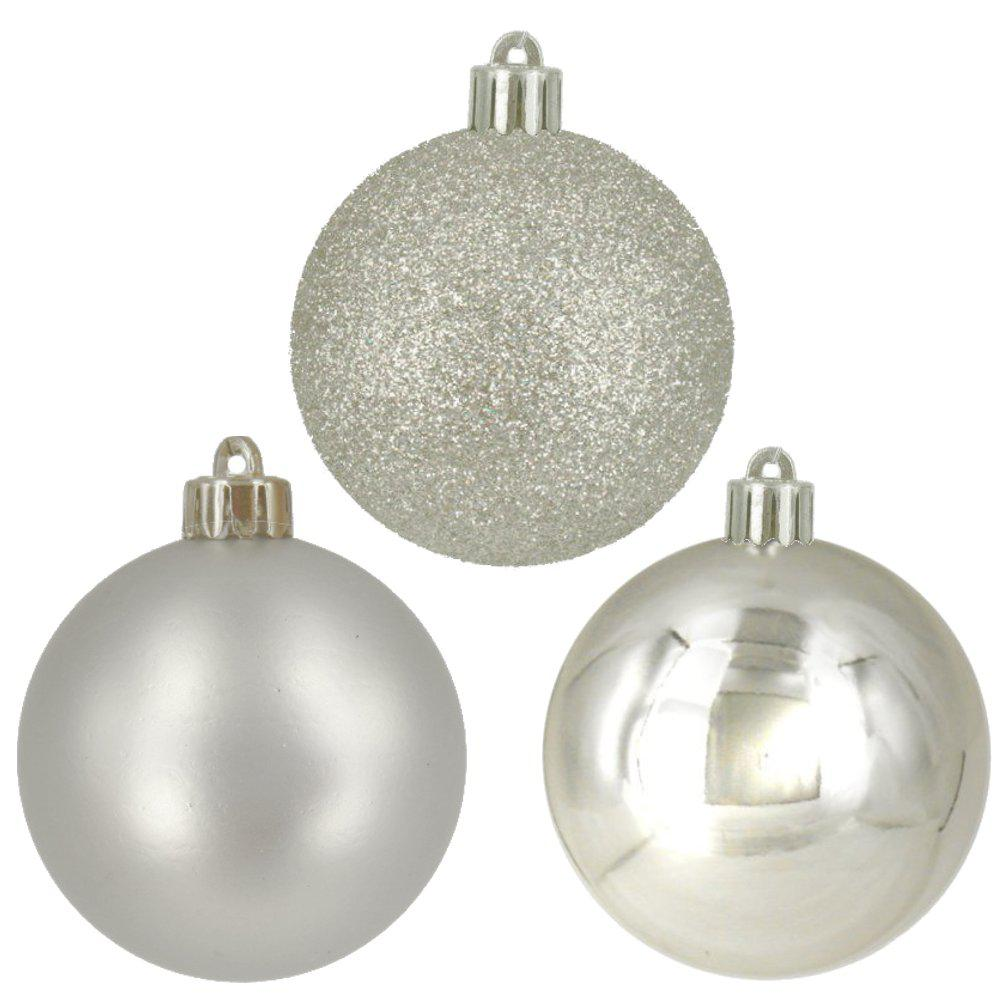 home accents holiday 60 mm silver ball ornaments 30 count - Green And Silver Christmas Decorations