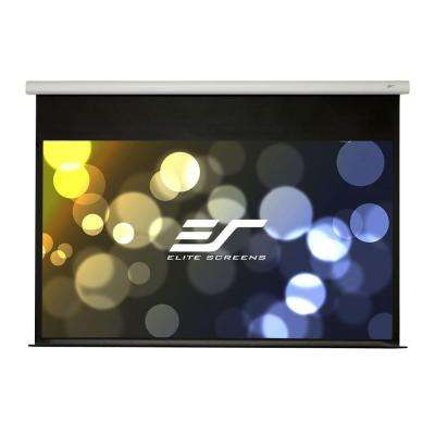 91 in. Electric Fiber Glass Backed Projection Screen with 12 in. Drop