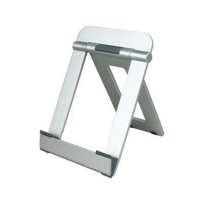 Universal Portable Stand Tablet Mount Tablet Stand for Tablets E-Readers and Smartphones, Durable Body, Silver