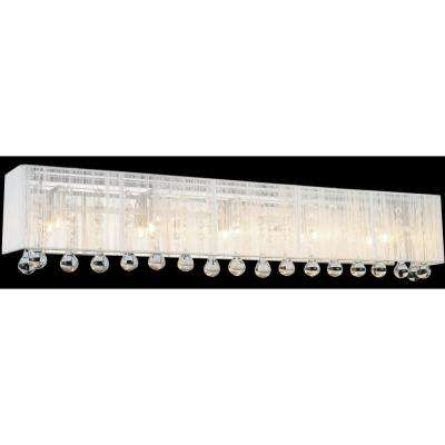 Water Drop 5-Light Chrome Sconce