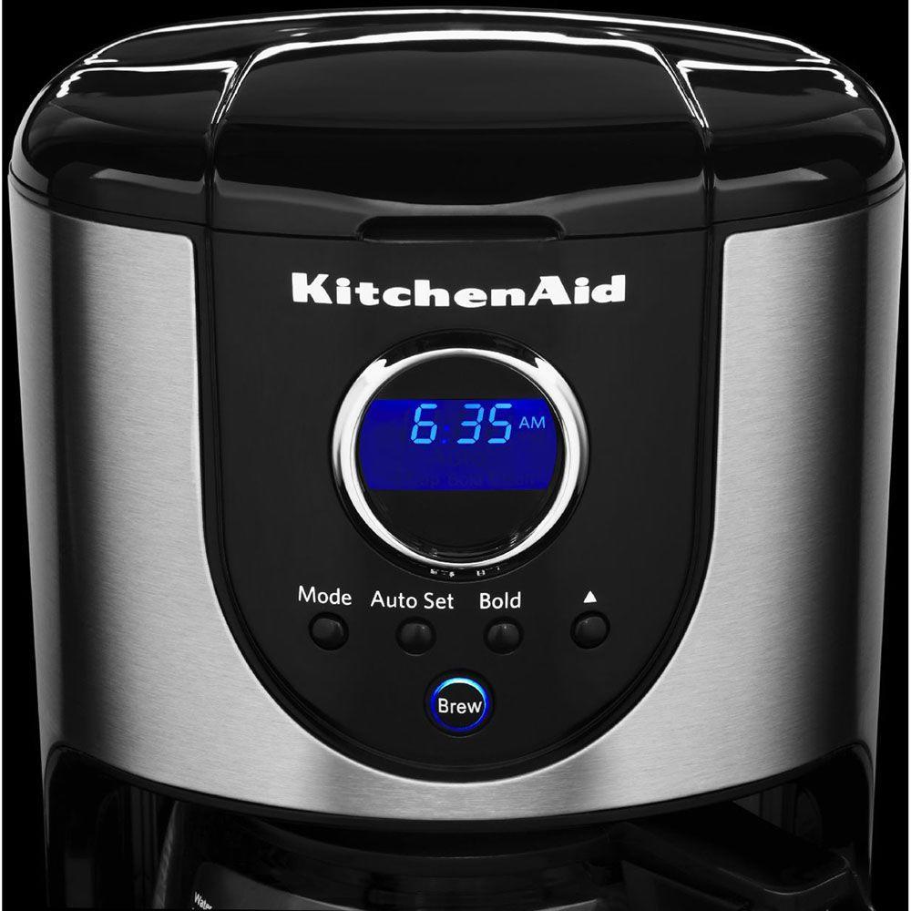 KitchenAid 12-Cup Onyx Black Drip Coffee Maker with Glass ...