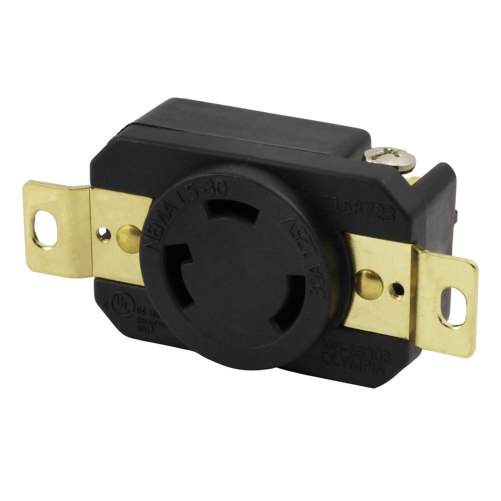ac works 30 amp 125 volt nema l5 30r flush mounting locking Nema L5-30P Wiring -Diagram 30 amp 125 volt nema l5 30r flush mounting locking industrial grade receptacle