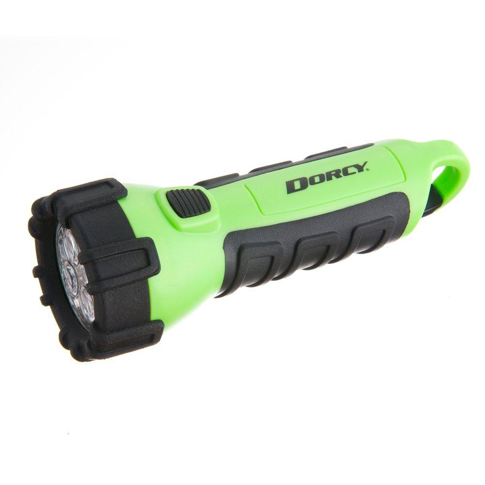 Battery Powered LED Carabineer Clip Floating Flashlight, Neon Green