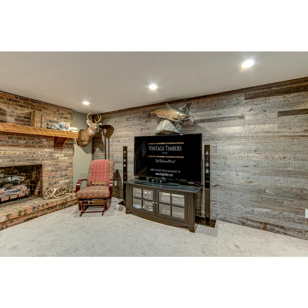 Barn Door Accent Wall Wood Planks: 3/8 In. X 4 Ft. Random Width 3 In.